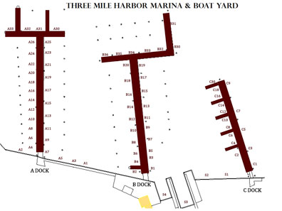 Three Mile Harbor Marina Slips